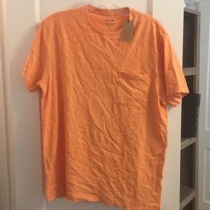 J.crew garment- dyed orange t-shirt